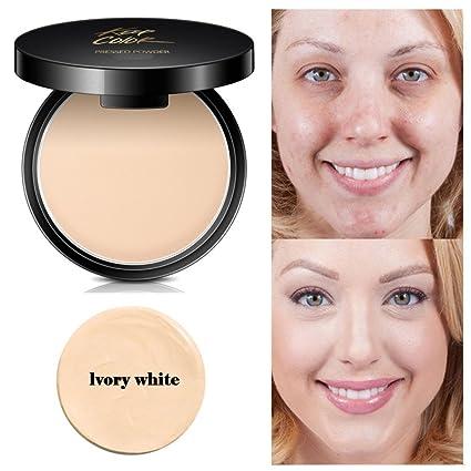 677113932 Polvo de cara prensado mineral, romático para base de maquillaje, base de  maquillaje,