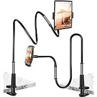 Tsryrlr Gooseneck Tablet Holder/Cell Phone Holder, Universal Tablet Stand,360 Flexible Arm Lazy Clamp Mount Bracket…