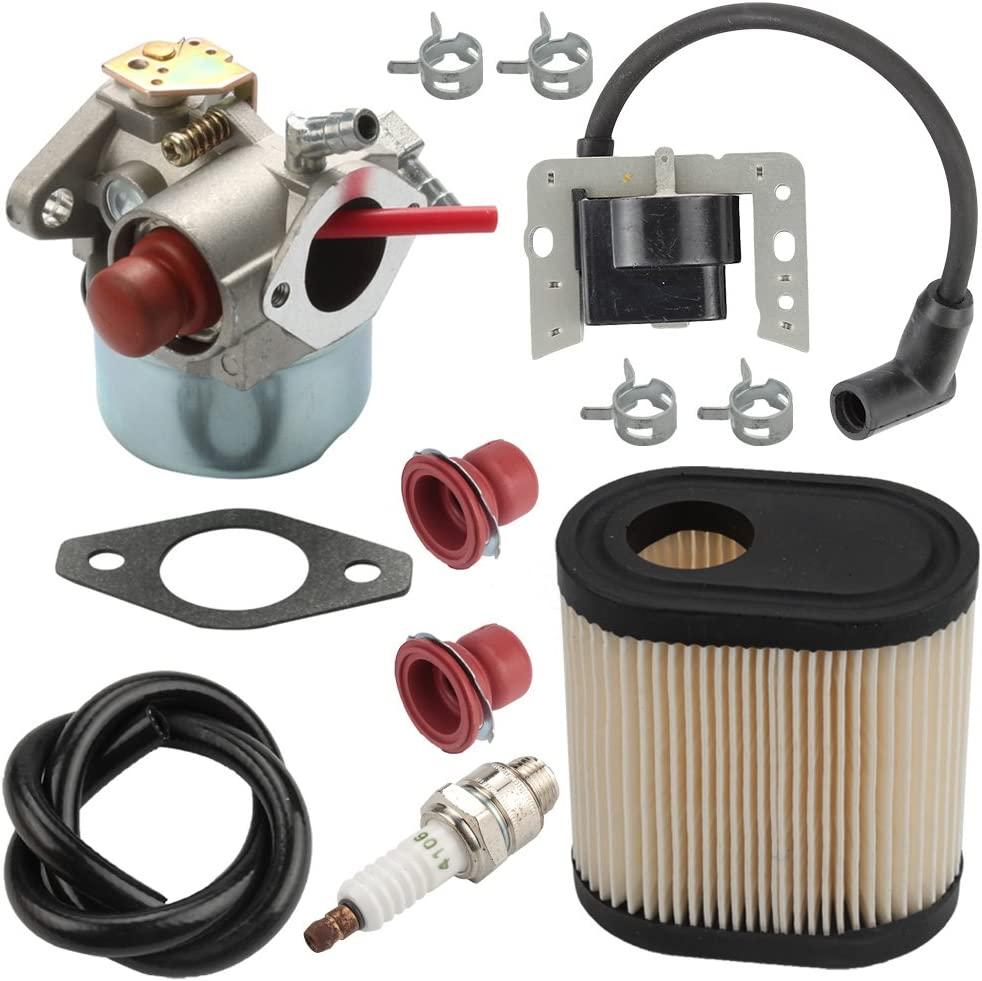 Harbot LV195EA 640350 Carburetor + 34443D 34443A Ignition Coil + 36905 Air Filter