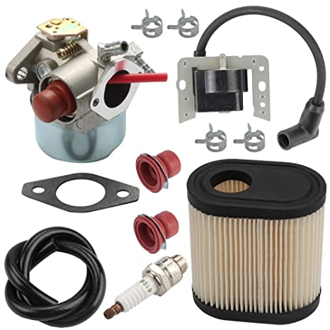 Harbot LV195EA 640350 Carburetor + 34443D 34443A Ignition Coil + 36905 Air Filter for Tecumseh LEV105