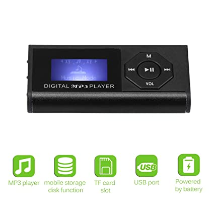Vvciic Digital Portátil Mini MP3 Player MAX Soporte 16 GB ...