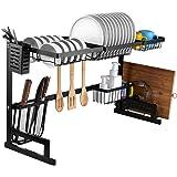 i BKGOO - Estante escurridor para fregadero, 2 niveles para cocina, organizador de suministros de almacenamiento para cocina,