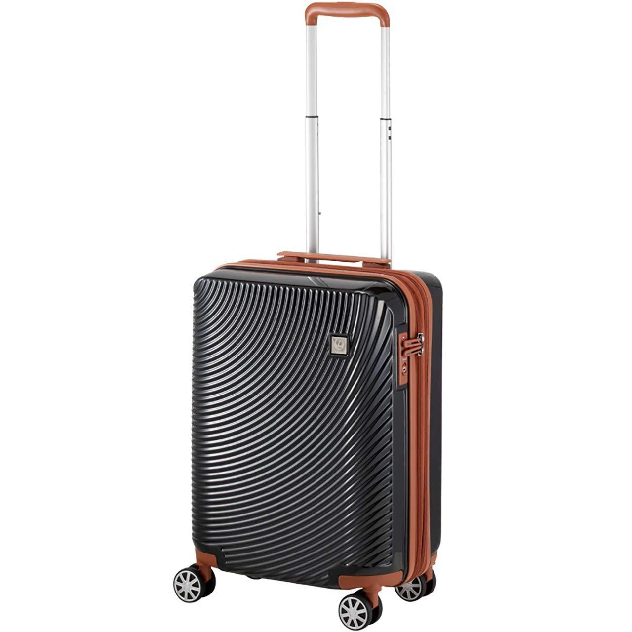 [プラスワン] スーツケース キャリーケース JAPAN AIRLINES 「JAL」機内持込み可 拡張式タイプ 容量37L(42L) 縦サイズ54.3cm 2.7kg 型番 601-47 B07KQRZD6X ブラック