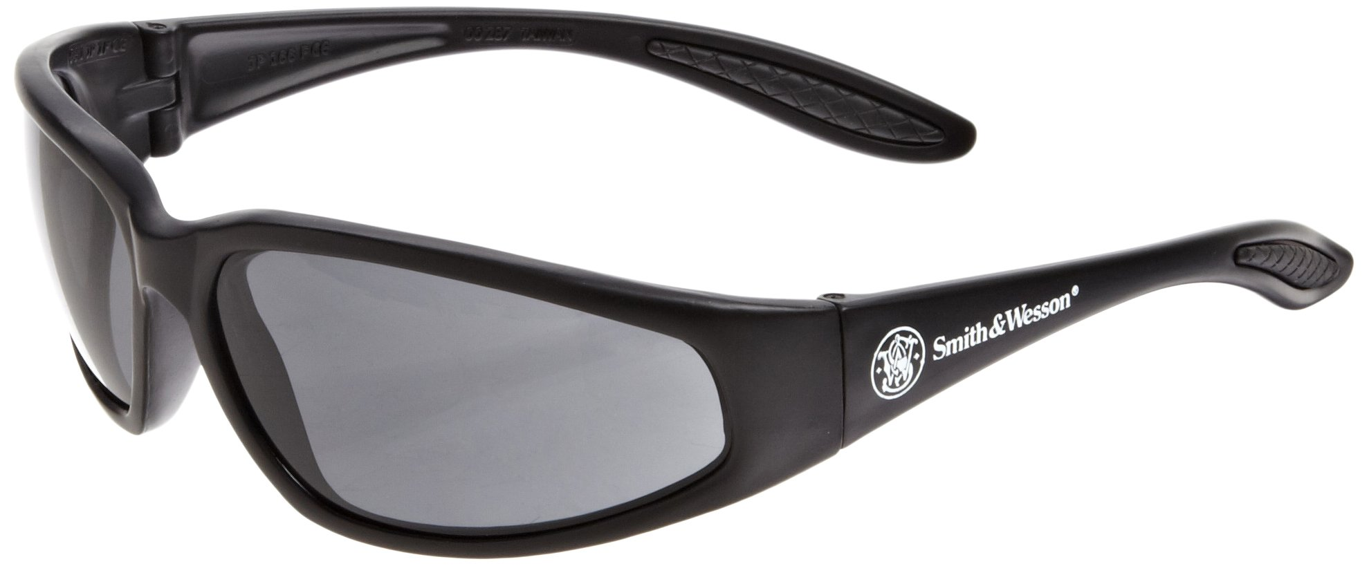Smith & Wesson 19859 38 Special Safety Glasses, Smoke Lenses with Black Frame, Pack of 12