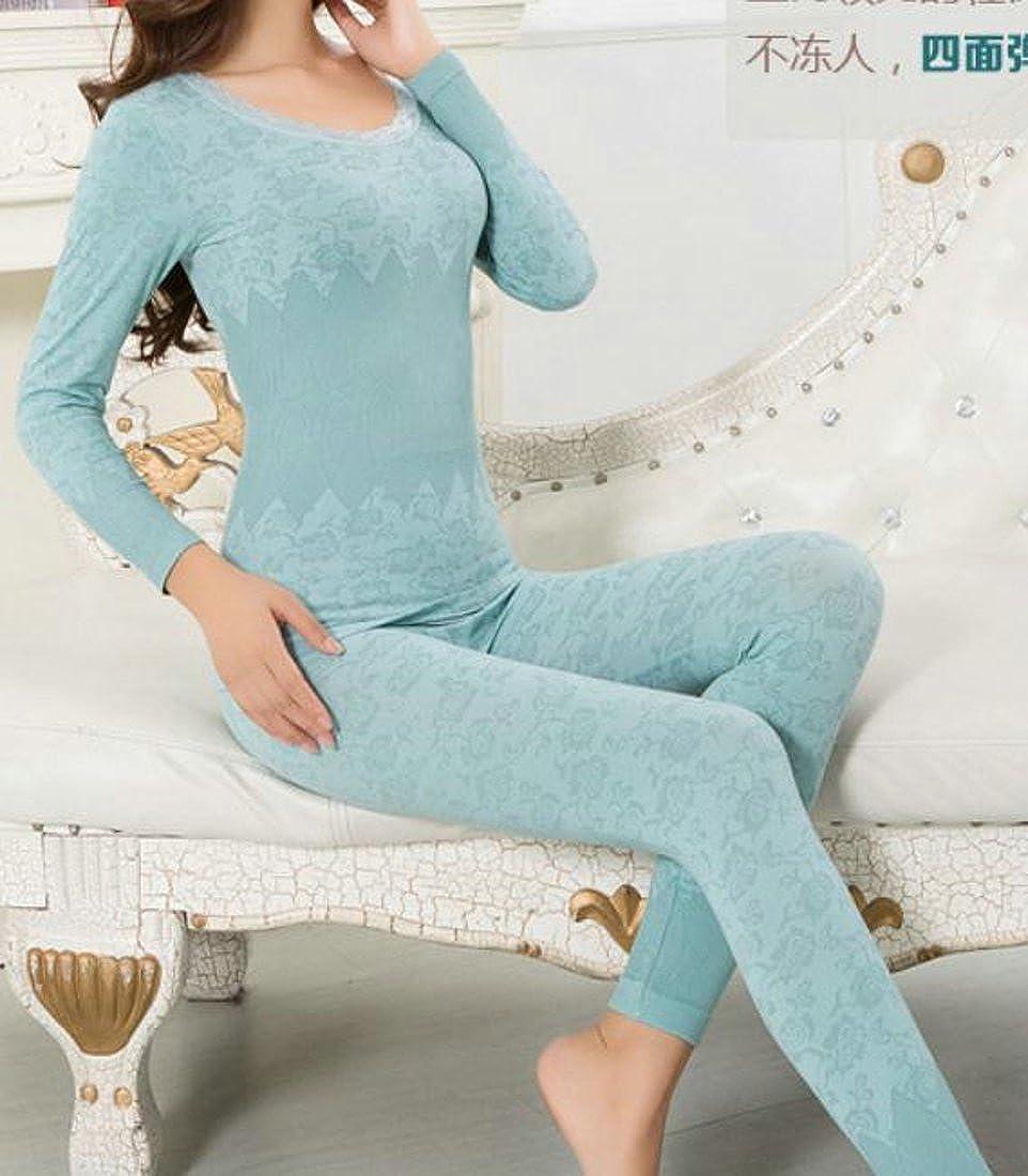 Adriat Womens Seamless Jacquard Slim Ladies Thermal Underwear Sets