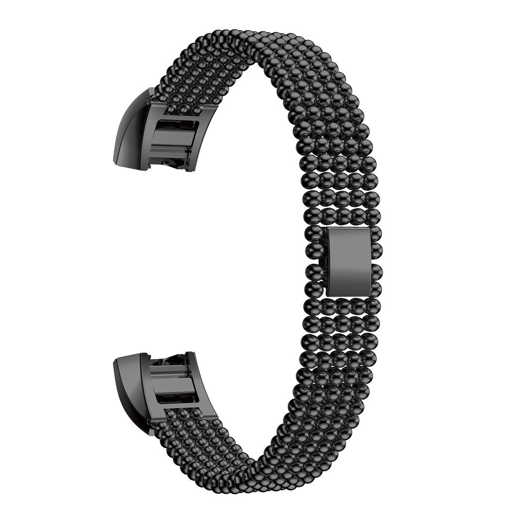 Hanshi Metal Bands Compatible Fitbit Alta HR Watch,Fitbit Fitness Wristband Smart Watch Stainless Steel Adjustable Replacement Band Strap Buckle Clasp Link for Fitbit Alta/Fitbit Alta HR