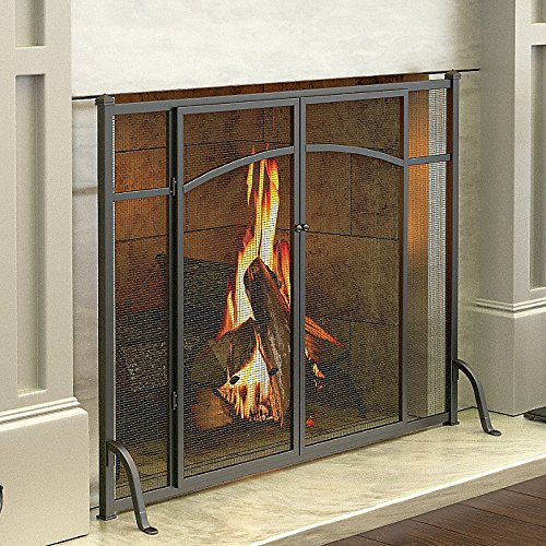 Amazon.com: Hyde Park Flat Panel Fireplace Screen With Doors: Kitchen U0026  Dining  Flat Screen Fireplace