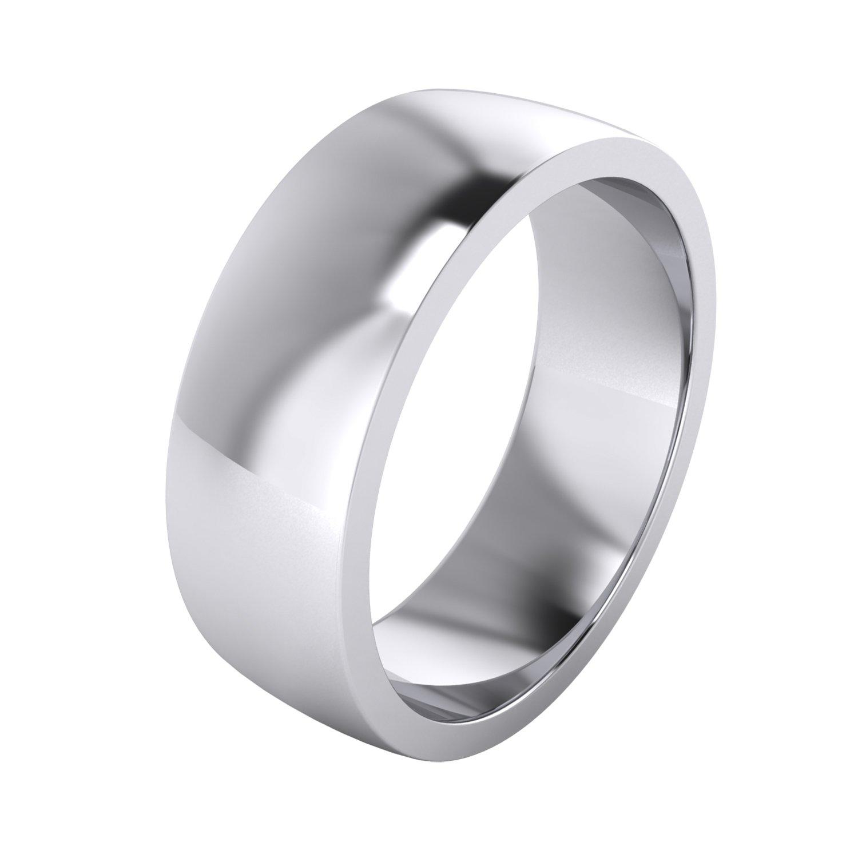 LANDA JEWEL Mens Sterling Silver 7mm Super Heavy Court Shape Polished Wedding Ring (7)