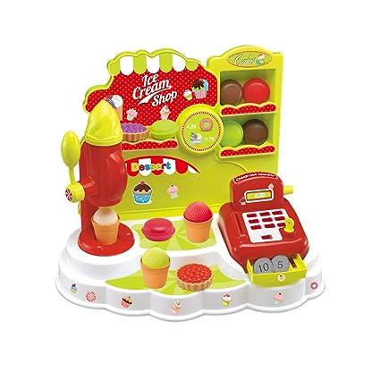 YOMRIC Jugar a Toy Ice Ceam & Dessert Cake Tienda de Helados Máquina para Hacer Helados