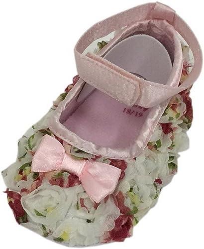 Bigood Chaussures Souple B/éb/é Chaussons Fleur Imprim/é Antid/érapant
