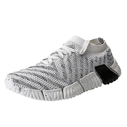 ESAILQ -Zapatillas Hombres Mujer Deporte Running Zapatos para Correr Gimnasio Sneakers Deportivas Padel Transpirables Casual
