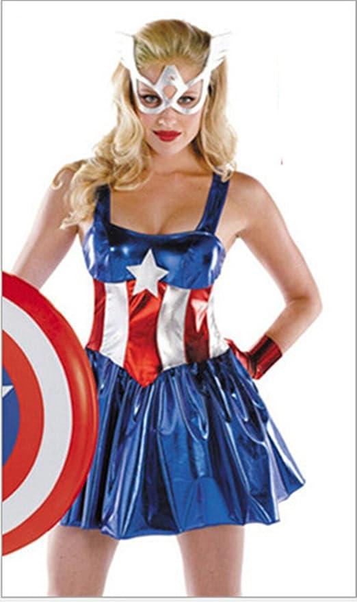 Glantop disfraz para mujer de Los Vengadores de Capitán América ...