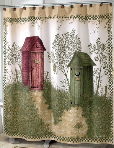 outhouse shower curtain - 9