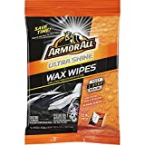Armor All 18239 Ultra Shine Wax Wipes (12 XL Wipes), 1 Pack