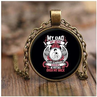 7fb286fde3 LASNECK I Love My Dad Necklace Antique Brass, My Dad is My Guardian Angel  Necklaces (Necklace - Antique Brass - Black) | Amazon.com