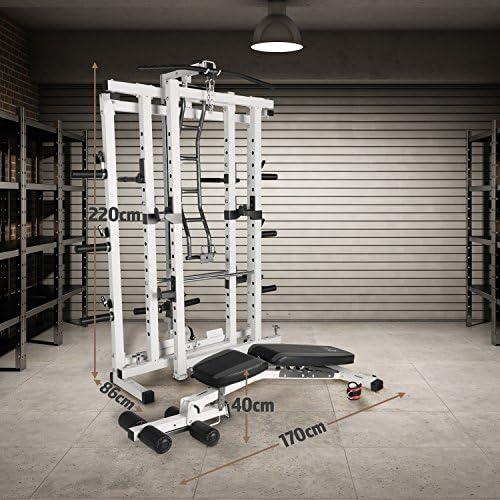 Power Cage Pliante Marcy Pro Deluxe Sm 4231 Cage Multi Stations Et Multifonctions Barre Et Poids Non Inclus Cage Et Banc De Musculation Repliable Et Robuste Sports Et Loisirs Musculation