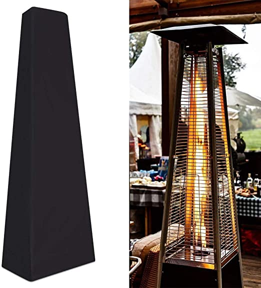 Garden Outdoor Patio Heater Covers Waterproof with Zipper 87 x 24 x 21 inches Rectangle Heater Cover Black Square Glass Tube Heater Cover