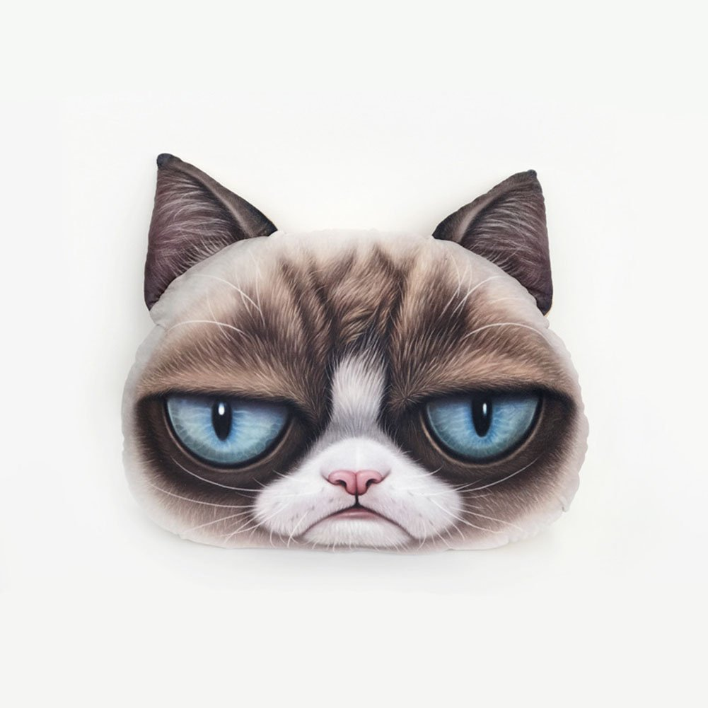 kinokoo Body Pillow Cookie Cat Back Cushion Catman Throw Pillow (black)