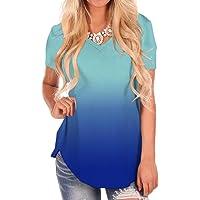 7ae508087e NIASHOT Women's Short and Long Sleeve V-Neck Loose Casual Tee T-Shirt Tops