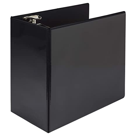 Samsill Titan Extra Large 6 Inch 3 Ring View Binder - Non-Stick Customizable Clear View Cover - Locking D-Ring - Holds Over 1250 Sheets - Black