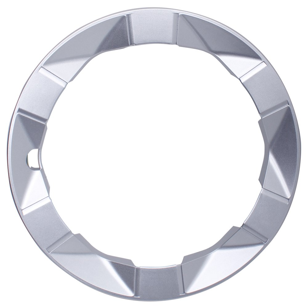 OxGord Trim Ring for Toyota Prius (Single Piece) 15 Inch Wheel Hub Replacement Silver Beauty Ring Cover
