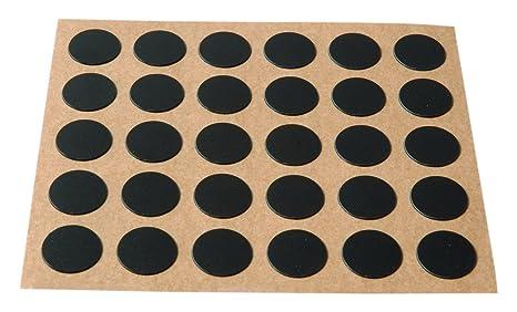 Brinox B77900N Embellecedor cubre-tornillos adhesivo Negro Set de 30 Piezas