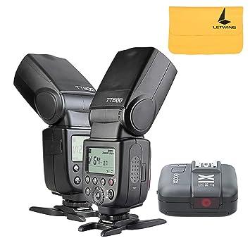 d50d210e95001 2x Godox TT600 2.4G inalámbrico Cámara Flash Speedlite + X1T-N TTL  Transmisor para