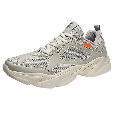 ced0bc6e96fd Chaussure de course sportive respirante ultra légère et ultra légère pour hommes  basket new blanche pas