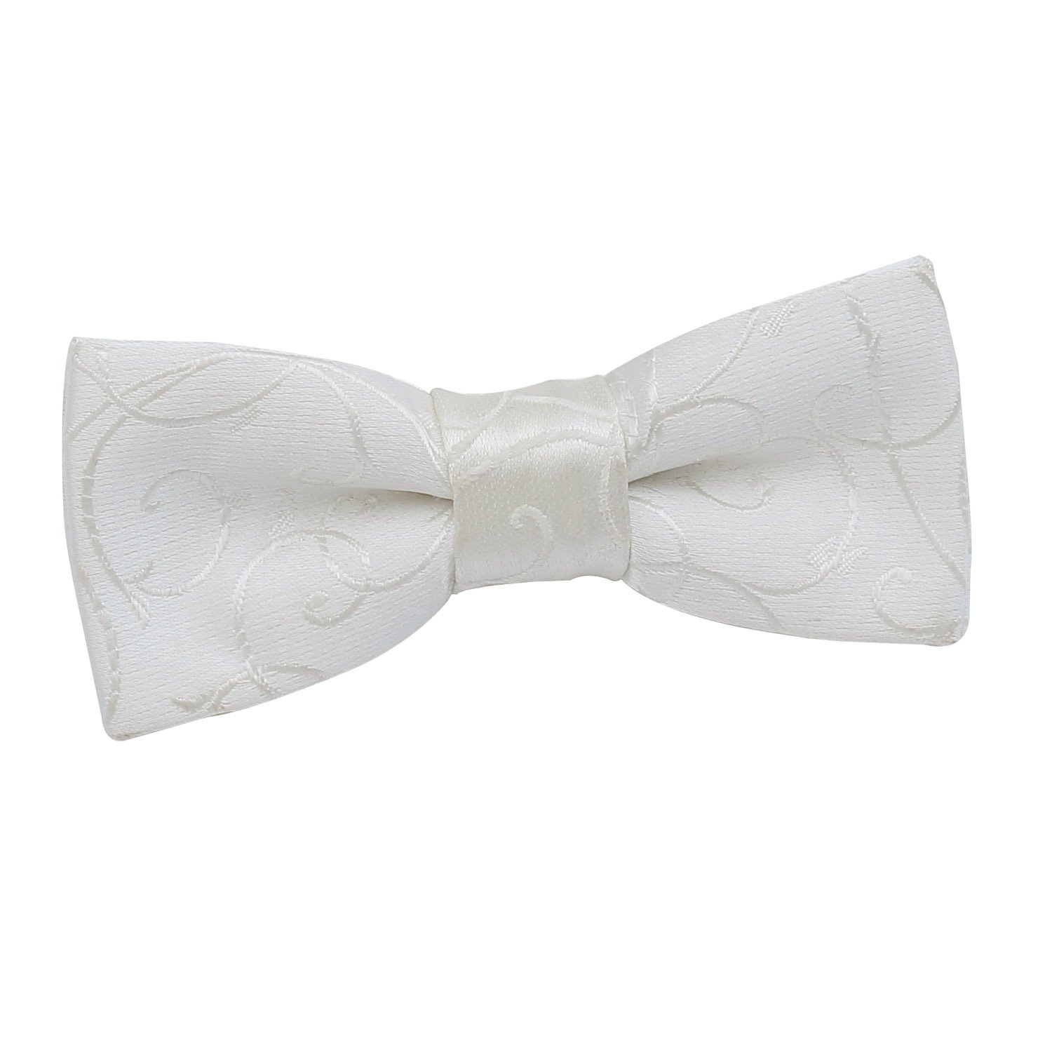 DQT Boys Swirl Patterned Wedding Suit Formal Tuxedo Casual Page Boy Adjustable Pre-Tied Bow Tie
