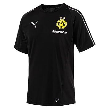 75e445f91a4 PUMA 2018-2019 Borussia Dortmund Training Football Soccer T-Shirt Jersey  (Black)