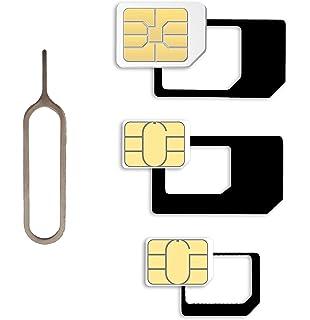 Sim Karten Adapter Maße.Nano Sim Und Micro Sim Karten Adapter Set Für Amazon De Elektronik