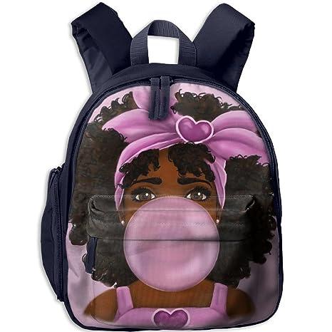 1e8ebca75a84 Amazon.com  CICIBLUE Blowing Bubbles African Black Girl Boy girl s Kids  Backpack 3D Print Toddler Toys Bag Book Bag Preschool Backpack Navy  Toys    Games