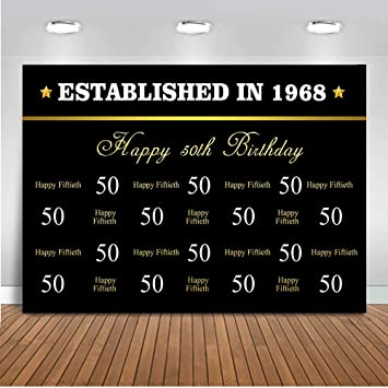 Mehofoto Happy 50th Hintergrund 7 X 150 Vinyl Amazon De Kamera