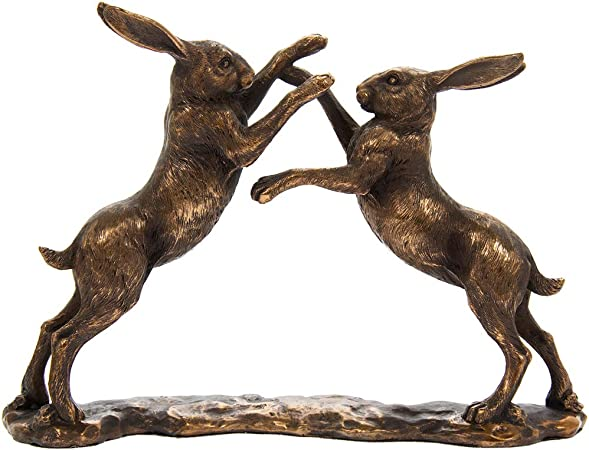 Bronzed Lying Hare Bronze Reflections by Leonardo Figurine *BRAND NEW BOXED*