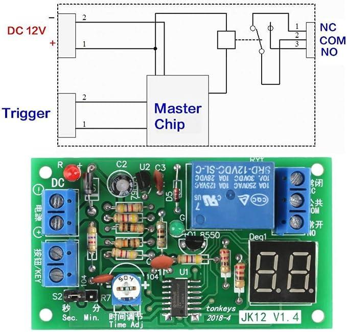Fictory Minuterie Minuterie de commutateur de Commande Intelligente programmable Durable /électrique num/érique 110V