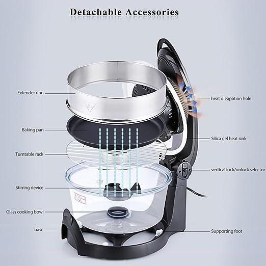 Haier freidora Actifry 14,5 litros multifunción salud halógena Turbo Hot Air Fryer Multi grill horno de temperatura No Splatter: Amazon.es: Hogar