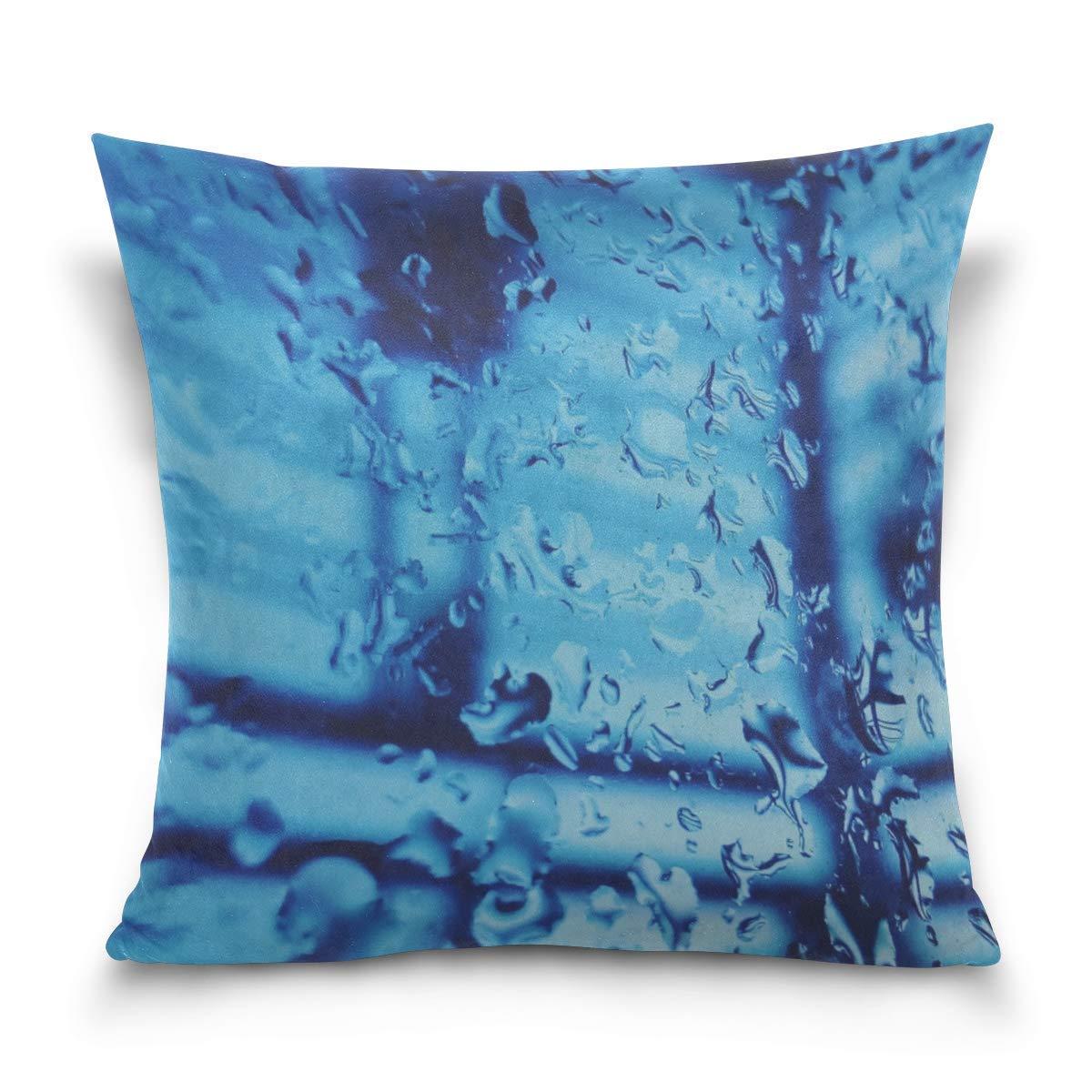 Hectwya Funda de Almohada Drops Glass Liquid Surface ...
