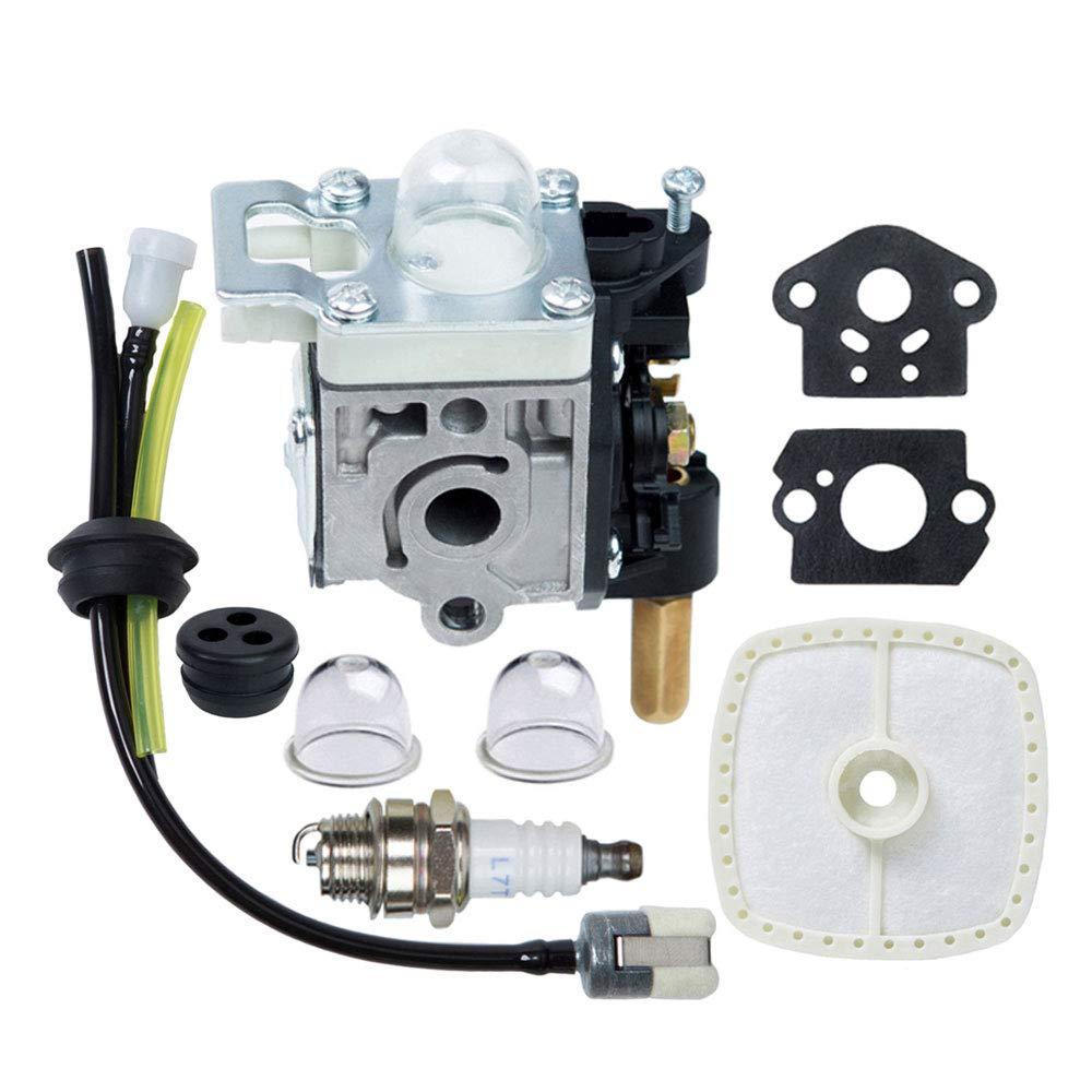 HOODELL SRM-210 GT-200R Carburetor Kit for Echo SRM-230 HC-150 PE-200 PPF-210 PAS-230 Carb Rebuild, with Spark Plug Primer Bulb Air Filter for Weed Eater, String Hedge Trimmer, Edger by HOODELL