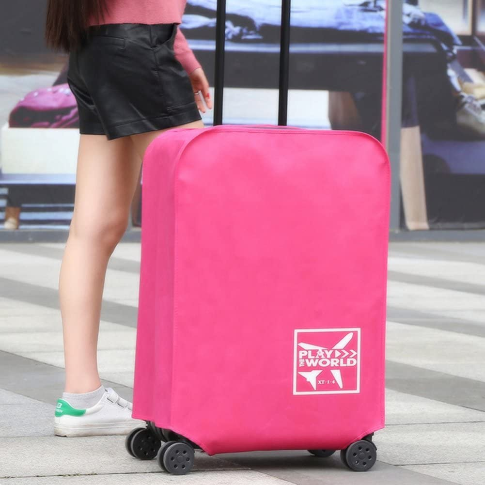 26inch,Black Travel Luggage Cover Suitcase Protector Bag Fits 20-30 Inch Luggage Waterproof Dustproof Cover