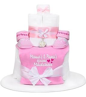 Trend Mama Windeltorte Pink Rosa Madchen Latzchen Babysocken
