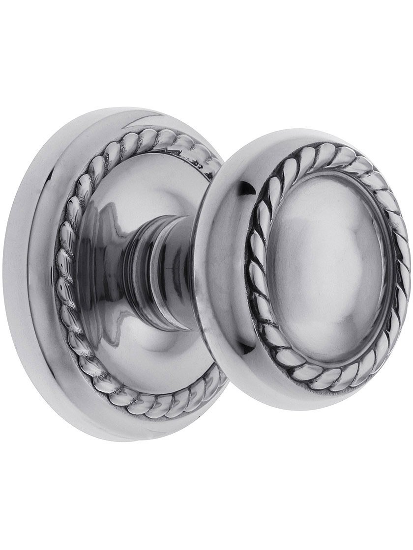 Classic Rope Rosette Set With Matching Rope Door Knobs Privacy In Antique Pewter Doorsets.