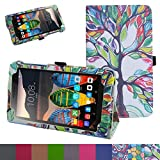 Lenovo Tab3 A7 / Tab 3 7 Case,Mama Mouth PU Leather Folio 2-folding Stand Cover for 7
