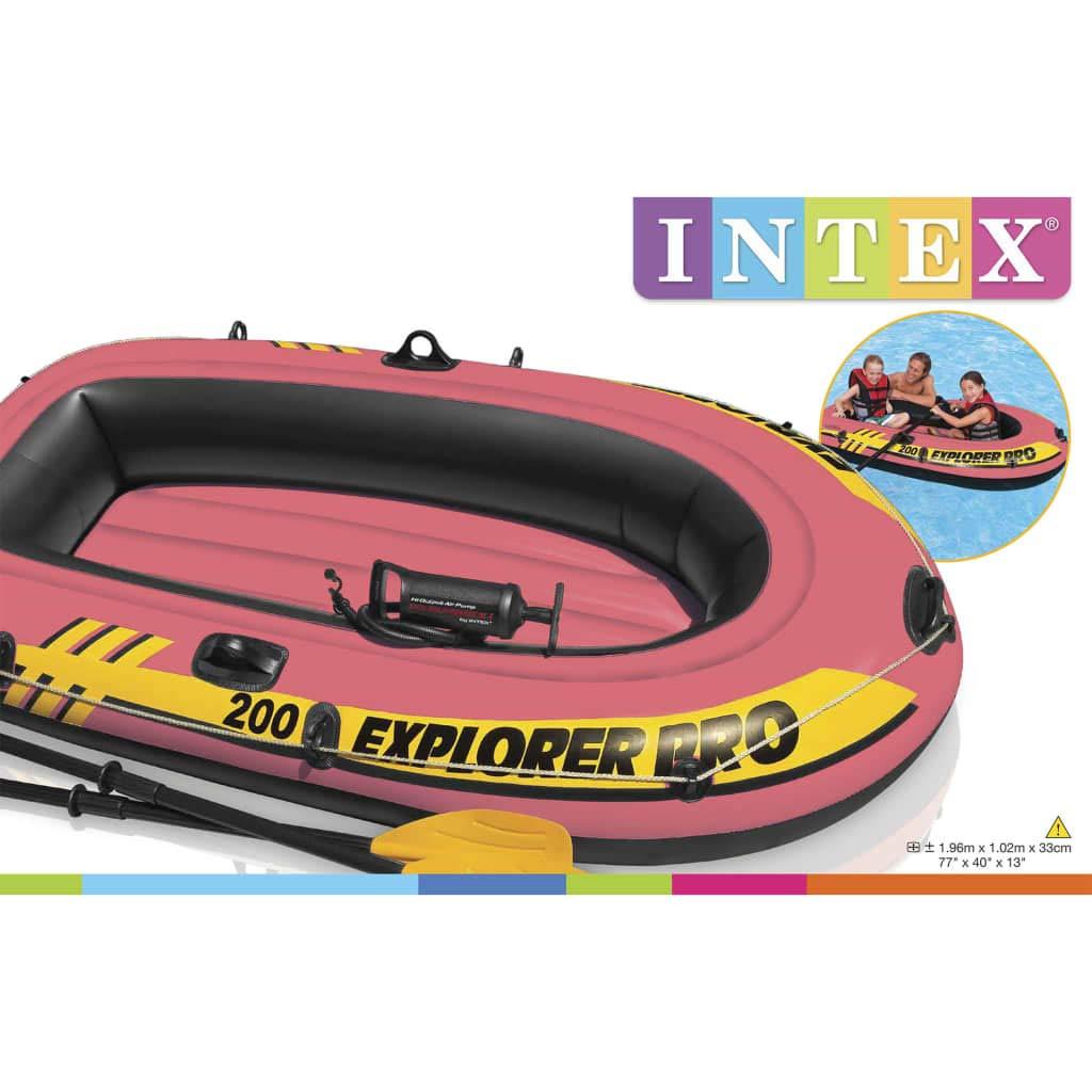 Retrome Explorer Pro 200 - Barco Inflable con remos y Bomba 196 x ...