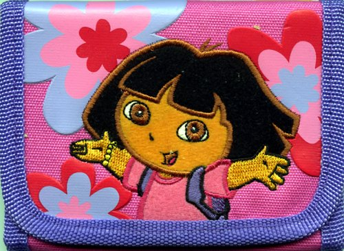 Dora the Explorer Trifold Wallet With Flowers Dora The Explorer Wallet