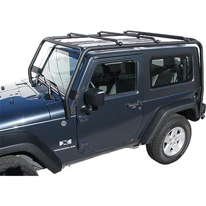 Wrangler Roof Rack >> J021t Trail Fx Black Roof Rack Jeep Wrangler 2 Door