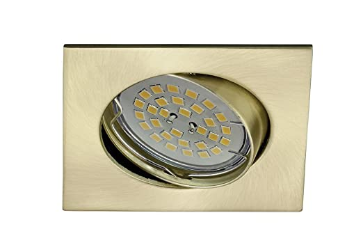 CristalRecord Eclo - Foco empotrable, cuadrado, basculante 30, acabado oro viejo: Amazon.es: Iluminación