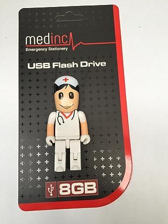 MedInc - Memoria USB de 8 GB, diseño de medicina Male Doctor / GP: Amazon.es: Informática