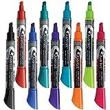 Quartet Dry Erase Markers, EnduraGlide, Chisel Tip, BOLD COLOR, Assorted Colors, 12 Markers/Pack (5001-20MA)