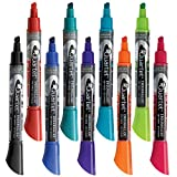 Quartet Dry Erase Markers, EnduraGlide, Chisel Tip, BOLD COLOR, Assorted Colors, 12 Markers/Pack (5001-20MA)