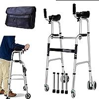 Kays Gehwagen für Senioren Walking Frames Gehgestell mit Armlehnenstützkissen - höhenverstellbar - faltender Leichter Aluminium-Gehwagen - Rehabilitationstraining für die unteren Extremitäten